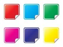 Etiqueta diversos colores Ilustración del Vector