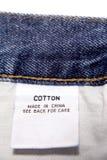 Etiqueta do algodão Foto de Stock