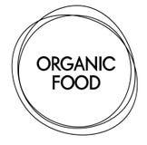 Etiqueta do alimento biológico ilustração royalty free