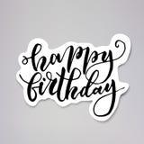 Etiqueta do aniversário ilustração royalty free