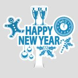 Etiqueta do ano novo Foto de Stock