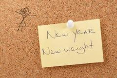 Etiqueta do ano novo Foto de Stock Royalty Free
