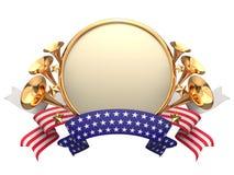 Etiqueta do bage do quadro dos EUA ilustração stock