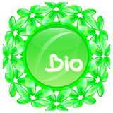 Etiqueta do bio e produto natural Fotos de Stock Royalty Free