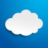 Etiqueta do céu azul da nuvem Imagem de Stock