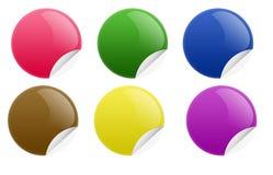 Etiqueta do círculo Imagens de Stock