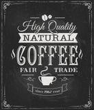 Etiqueta do café no quadro Fotos de Stock