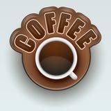 Etiqueta do café Símbolo para o menu Vetor Imagens de Stock Royalty Free