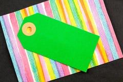 Etiqueta do cartão verde fotos de stock