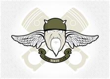 Etiqueta do clube do motociclista Fotos de Stock Royalty Free