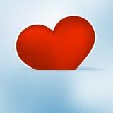 Etiqueta do coração do cartão de papel do dia de Valentim. + EPS8 Imagem de Stock
