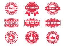 Etiqueta do crachá do selo do vetor para a marca do produto, prêmio, etiqueta da qualidade superior, produto de alta qualidade Fotos de Stock