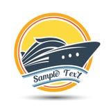 Etiqueta do cruzeiro ilustração royalty free