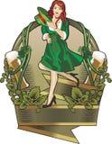 Etiqueta do dia do St. Patrick Imagem de Stock