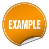 etiqueta do exemplo ilustração stock