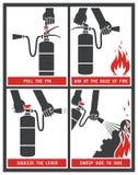 Etiqueta do extintor Foto de Stock Royalty Free
