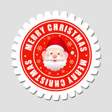 Etiqueta do Feliz Natal Imagens de Stock Royalty Free