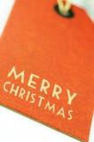 Etiqueta do Feliz Natal Foto de Stock