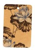 Etiqueta do glam do vintage com teste padrão de flor Imagem de Stock