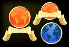 Etiqueta do globo com melhor texto da palavra Fotografia de Stock Royalty Free