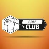 Etiqueta do golfe do vintage ilustração do vetor