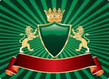 Etiqueta do leão de Gree Fotos de Stock Royalty Free
