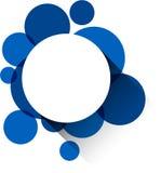 Etiqueta do Livro Branco sobre bolhas azuis ilustração stock