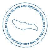 Etiqueta do mapa da ilha de Saona Imagem de Stock