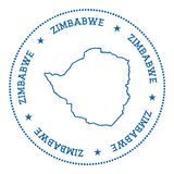 Etiqueta do mapa do vetor de Zimbabwe Fotografia de Stock