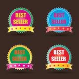 Etiqueta do melhor vendedor Fotos de Stock Royalty Free