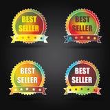 Etiqueta do melhor vendedor Imagens de Stock