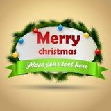 Etiqueta do Natal Fotografia de Stock Royalty Free