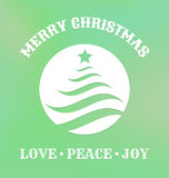 Etiqueta do Natal com árvore de Natal ilustração royalty free