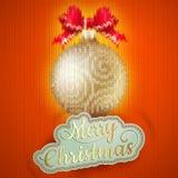 Etiqueta do Natal em um fundo feito malha Eps 10 Fotos de Stock Royalty Free