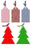 Etiqueta do Natal no estilo do vintage. Fotografia de Stock Royalty Free