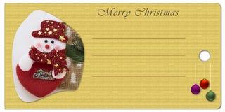 Etiqueta do Natal para o nome Fotografia de Stock