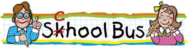 Etiqueta do ônibus escolar Ilustração do Vetor