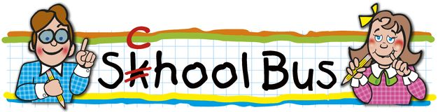 Etiqueta do ônibus escolar Foto de Stock