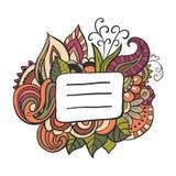 Etiqueta do nome da garatuja da tampa do caderno Vetor Ilustração Stock