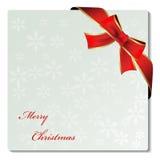 Etiqueta do ornamento do Natal com fita Imagem de Stock