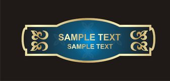 Etiqueta do ouro Fotografia de Stock