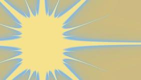 Etiqueta do papel do Fractal no formulário da estrela no fundo bege, fitas e quadro, ícone do copyspace do crachá para o offert e ilustração royalty free