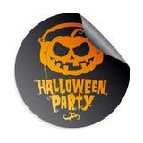 Etiqueta do partido de Halloween Foto de Stock Royalty Free