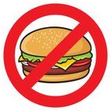 Etiqueta do perigo do fast food Fotos de Stock Royalty Free