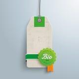 Etiqueta do preço do Biofood Fotos de Stock