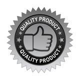 Etiqueta do produto de qualidade ilustração stock