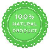 etiqueta do produto natural de 100% Fotografia de Stock