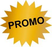 Etiqueta do Promo com cor dourada Ilustração Royalty Free