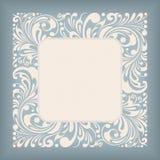 Etiqueta do quadrado do ornamento Fotografia de Stock Royalty Free