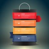 Etiqueta do saco de compras Imagem de Stock Royalty Free